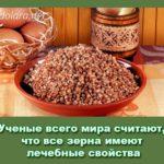 Ученые всего мира считают, что все зерна имеют лечебные свойства