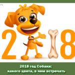 2018 год Собаки: какого цвета, в чем встречать